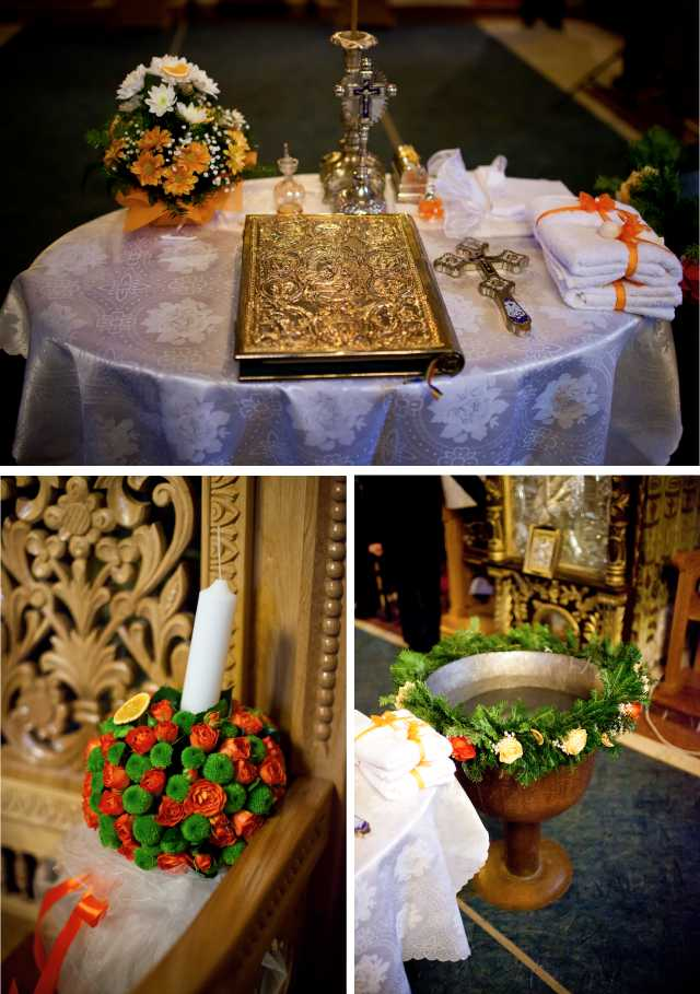 decor biserica, amenajari botez braila. botez galati